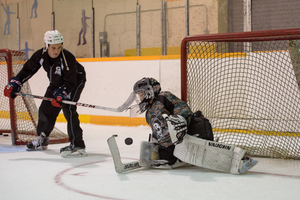 Goalie Training Tips Behind The Net Reversals Gaahockey Elite